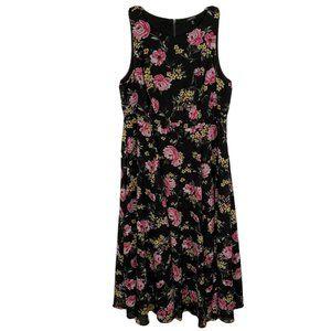 TORRID Maxi Dress 16 Black Floral Sleeveless Flowy